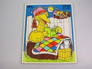 Playskool Sesame Street Muppets puzzle Big Bird Bedtime gross motor skills OT