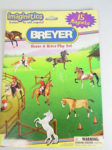 Breyer Horse Rider Magnets board booklet Play Set pretend play travel toy