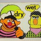 Playskool Sesame Street Muppets puzzle Bert Ernie wet dry gross motor skills OT