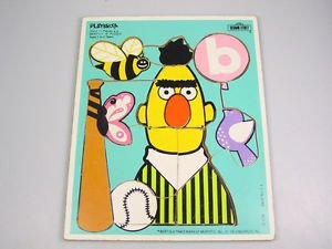 Playskool Sesame Street Muppets puzzle Bert letter B bird gross motor skills OT