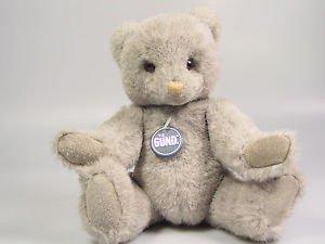 GUND Gray Teddy Bear GUNDY 1986 Plush Animal Stuffed Toy Doll Limited Edition