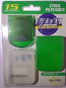 Playstation 1 PS1 Memory Card 15 block *Cyber Gadget*