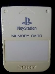 Playstation 1 PS1 Official Memory Card White