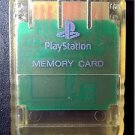 Playstation 1 PS1 Official Memory Card Transparent White
