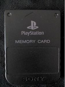 Playstation 1 PS1 Official Memory Card Transparent Black