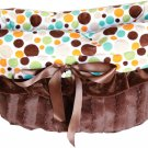 Snuggle Bugs - Fall Party Dots - Dog Pet Bed + Bag + Car Seat in One