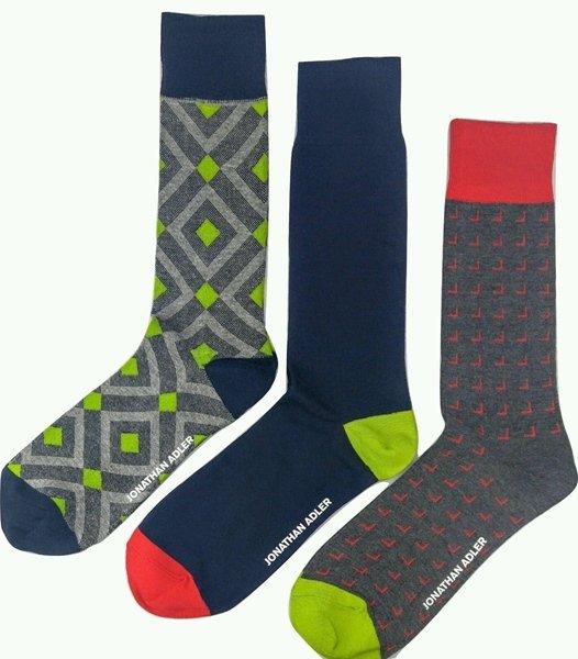 Jonathan Adler Men's Premium Crew Socks 3 Pack Size 10-13