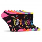 Days of the Week No Show Ankle Socks 7 Pair Pack for Women Size 9-11