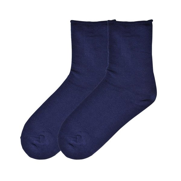 Women's Relaxed Top Casual Crew Socks by K Bell Navy Blue Size 9-11