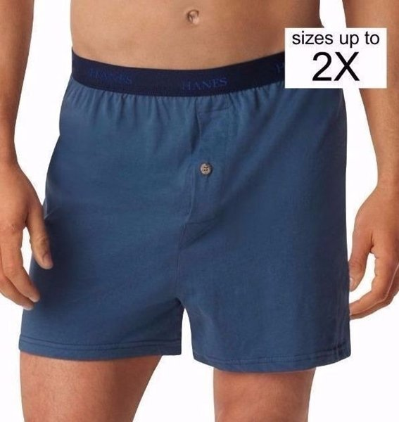 Hanes Men's TAGLESS ComfortSoft  Knit Boxer with Comfort Flex Waistband 5-Pack