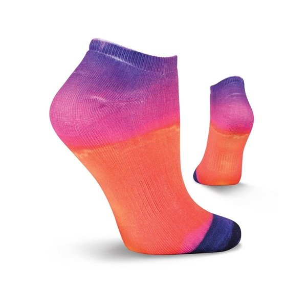 Women's Sunset Sport Athletic Low Cut Ankle Socks by Kurb Size 9-11