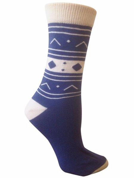 Sedna Lapis Organic Cotton Crew Socks for Women by Rock N Socks Size 9-11