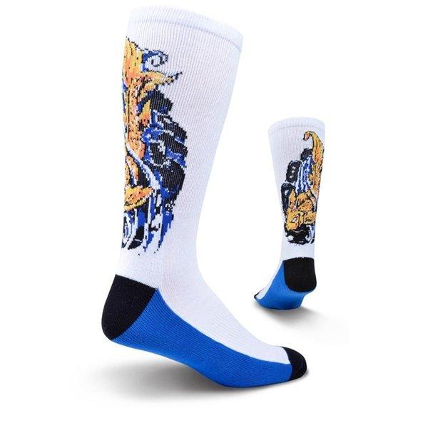 Men's King Koi Fish Athletic Crew Socks by Kurb Size 10-13
