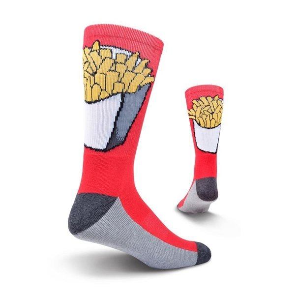 Men's Red Fries Athletic Crew Socks by Kurb One Pair Size 10-13