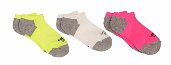 Golds Gym Women's No Show Ankle Socks Neon Colors 3 Pair Size 9-11