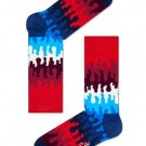 Happy Socks  Goo Sock Blue Red White for Men and Women One Pair