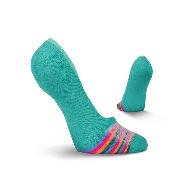 Women's Striped Liner Socks by Kurb Size 9-11