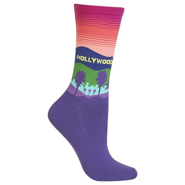 Women's Hollywood Crew Socks by Hot Sox Size 9-11 One Pair