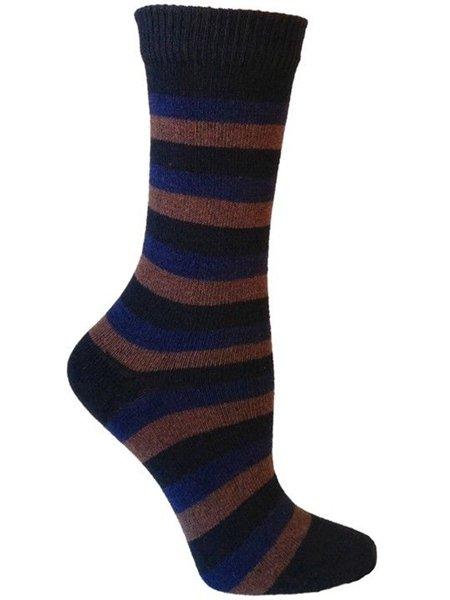 Apollo Striped Casual Crew Socks for Men by Rock N Socks 10-13 Eco Friendly