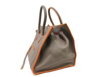 Authentic CELINE Phantom Luggage Small Tote Bag Handbag Leather Beige Orange