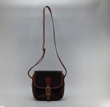 Celine Slanted Cliff Shoulder Bag Macadam Shorudaba