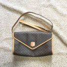 Celine Shoulder Bag Macadam Brown Leather