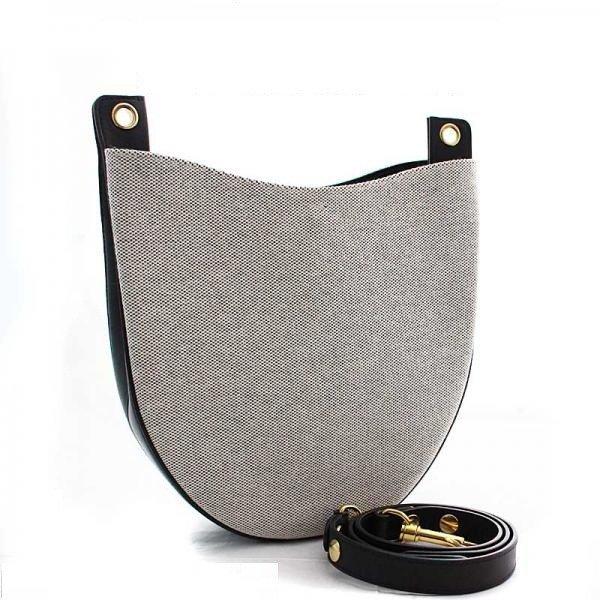 Celine Shoulder Bag Hobo Canvas Gray