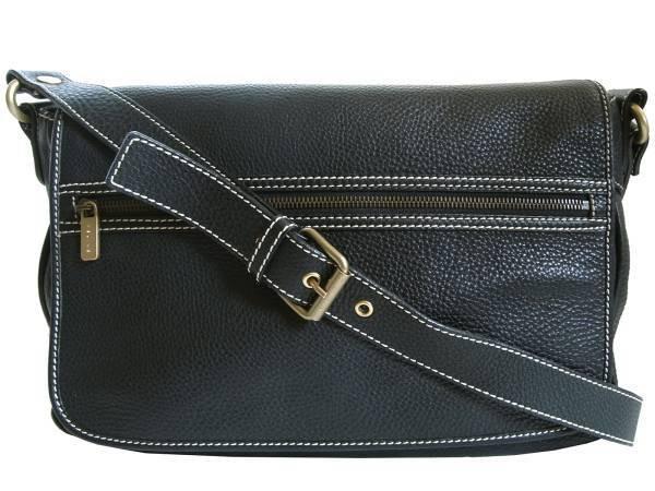Celine Messenger Bag Leather Black