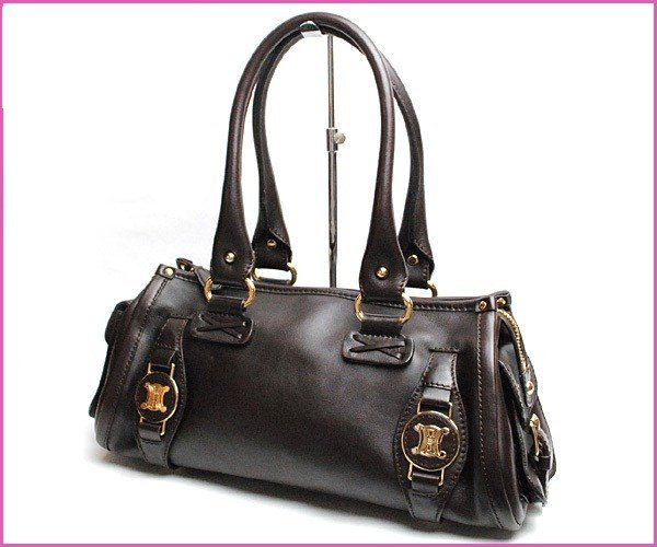 Celine Retail Purchase Bra Plate Leather Shoulder Bag