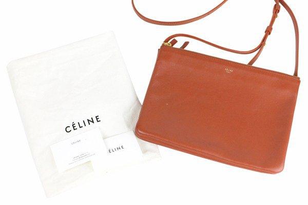 Celine Large Shoulder Bag Brown