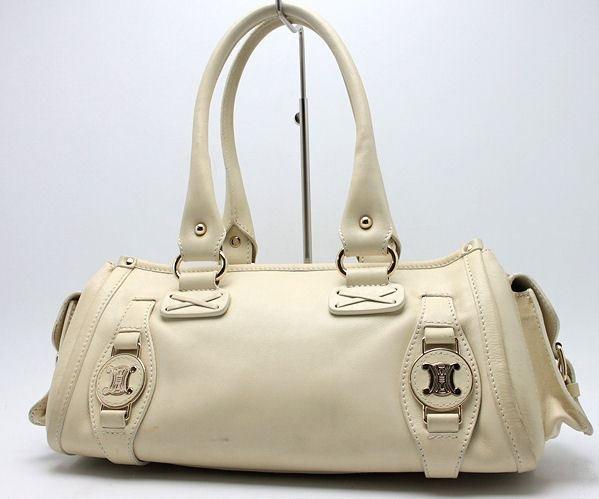 Celine Shoulder Bag Ivory Leather