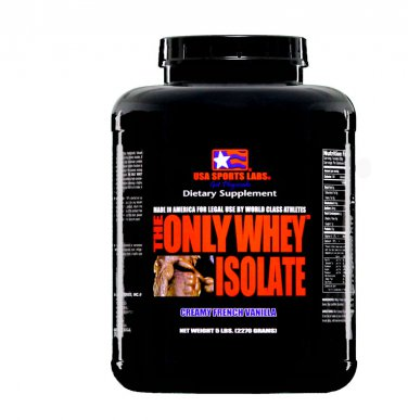 THE ONLY WHEY ISOLATE (90%) 5 lb Vanilla Flavor