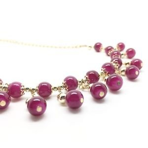 WOMEN'S CHAIN WITH BEADS NECKLACE Green, Fuchsia, Pink, Brown, Red, Purple...