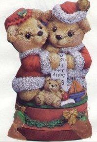 Mr. and Mrs. Santa Bears Music Box