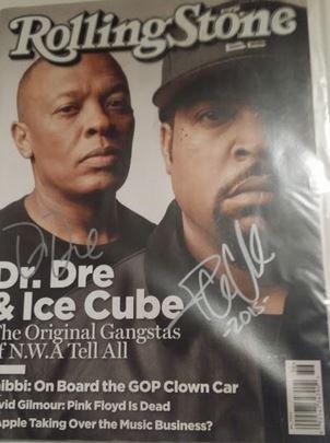 Dr. Dre / Ice Cube Signed Magazine