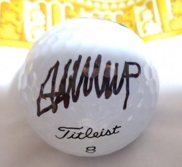 Donald Trump autographed Golf Ball