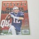Tom Brady autographed magazine