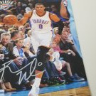 Russell Westbrook autographed game program
