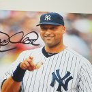 Derek Jeter autographed 8 x 10 photo