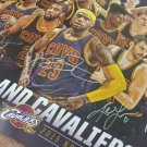 Cleveland Cavaliers 2015 team signed poster