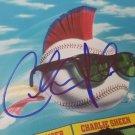 Charlie Sheen autographed Major League DVD
