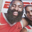 James Harden autographed ESPN Magazine