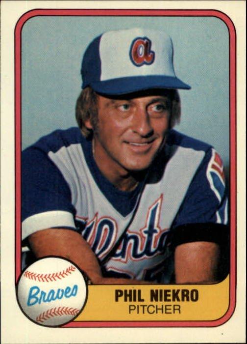 1981 Fleer 242 Phil Niekro