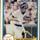 1981 Fleer 304 Tim Blackwell
