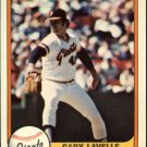1981 Fleer 448 Gary Lavelle