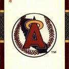 1987 Donruss Opening Day 249 Angels Logo