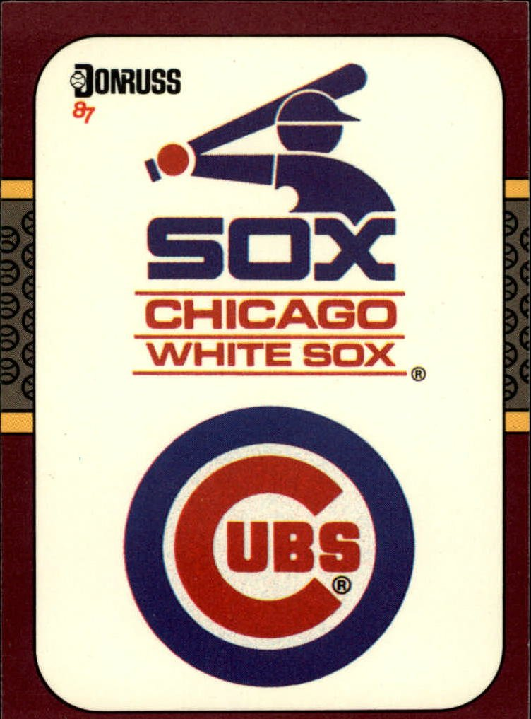 1987 Donruss Opening Day 271 Chicago Logos