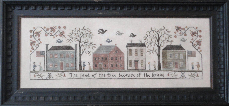 Land of the Free Cross Stitch Pattern