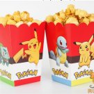 6pcs/lot cartoon pokemon go Pikachu Kids Party Supply Popcorn Box case Gift Box