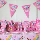 birthday decoration 10person use 91pcs a firend big party set tableware set paper